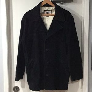 Vintage 90's Black Suede Jacket 26 Red Medium